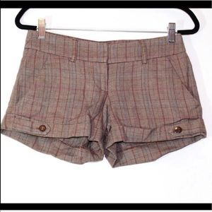 G by Guess brown plaid shorts  Size 24